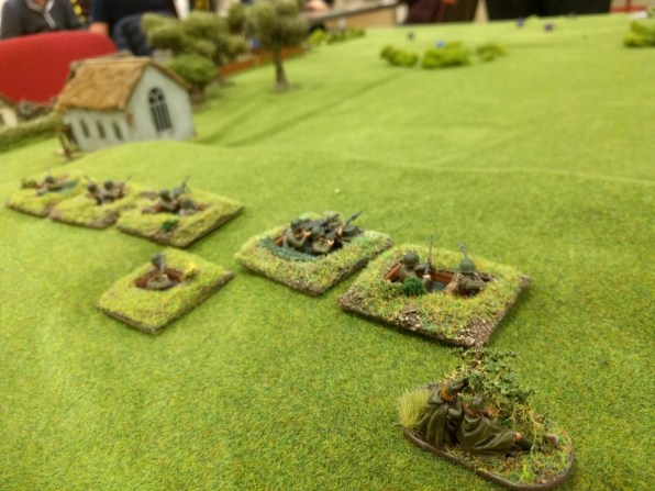 More Soviet troops deploy dug in along the ridge