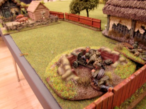 Surprise! A well dug-in Maxim catches the Germans in a tight spot