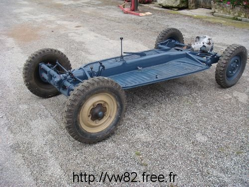 Kubelwagen chassis and drivetrain