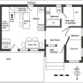 Completed floor plan with addition