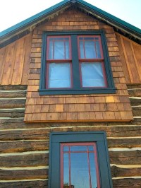 Log home interior window trim - House design plans
