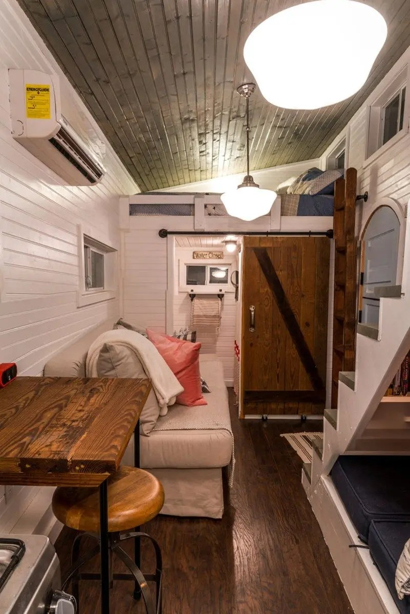 reading nook chair small patio table and 2 chairs book a stay in chattanooga's live little tiny houses - house blog