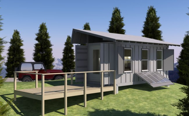 Shipping Container Based Remote Cabin Design Concept