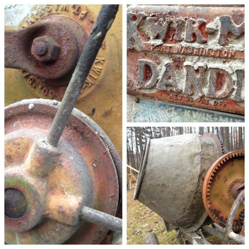 Antique cement mixer, Kwik Dande, Still Works!!