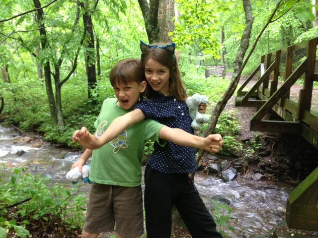 Ella and Archer at Rock Castle Creek