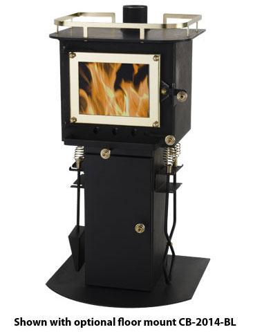 Hi Flame Shetland Hf905u Extra Small Wood Burning Stove Black