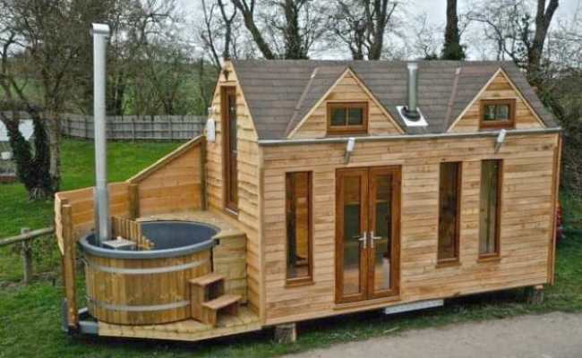 Luxury Tiny House On Wheels With A Hot Tub