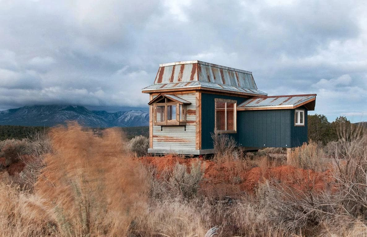 Rustic Tiny House On Wheels Includes A Unique Addition