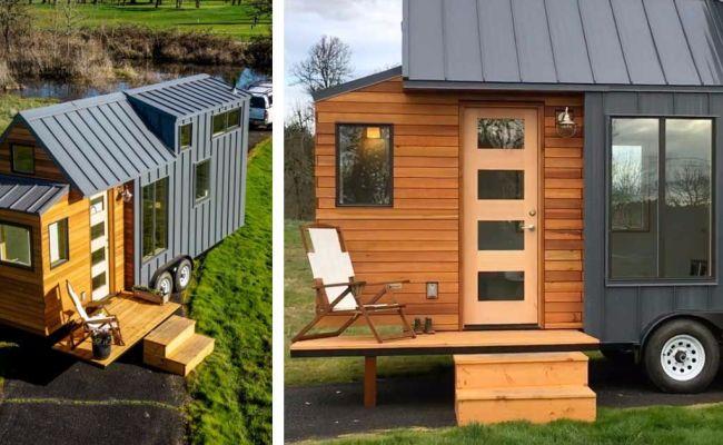 Maison Mobile Tiny House Black Bedroom Furniture Sets
