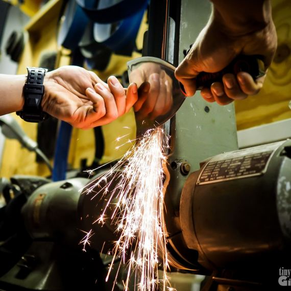 Metal Spatula sharpening
