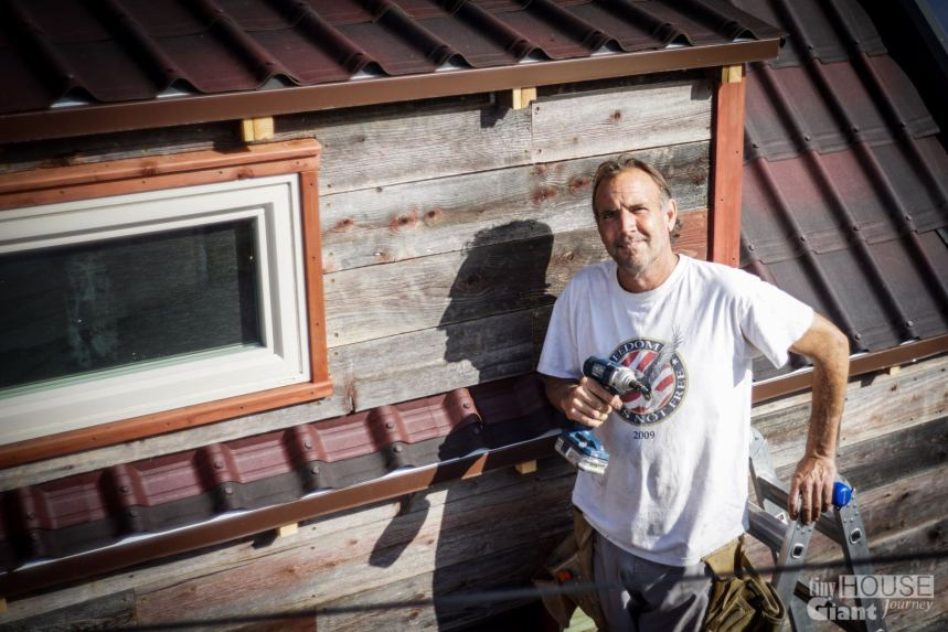 Our carpenter friend Don did some amazing work on our siding. Thank you Don!