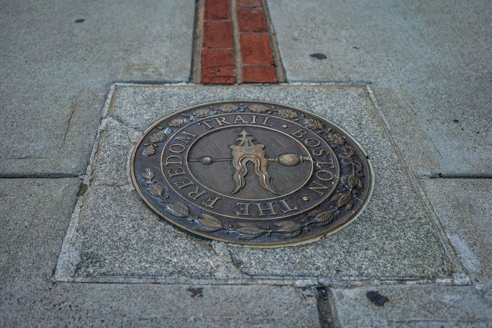 Marker for the Freedom Trail