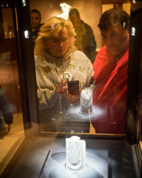 Museum of Natural History / Isn't it funny how people crowd around a diamond, of all things?
