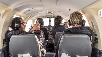 Inside The Denali Air Piper Navajo