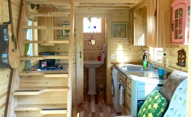 Nicki S Colorful Victorian Tiny House After One Year