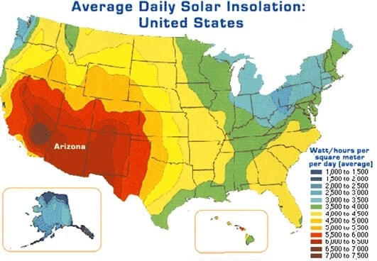 average-sun-hours-usa