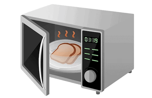 the burnt smell out of a microwave