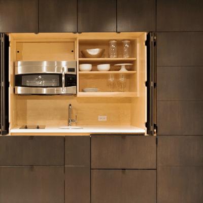 take a hidden kitchen any day  tinyhousejoy