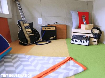 Music Studio In Tiny House Tinyhousejoy