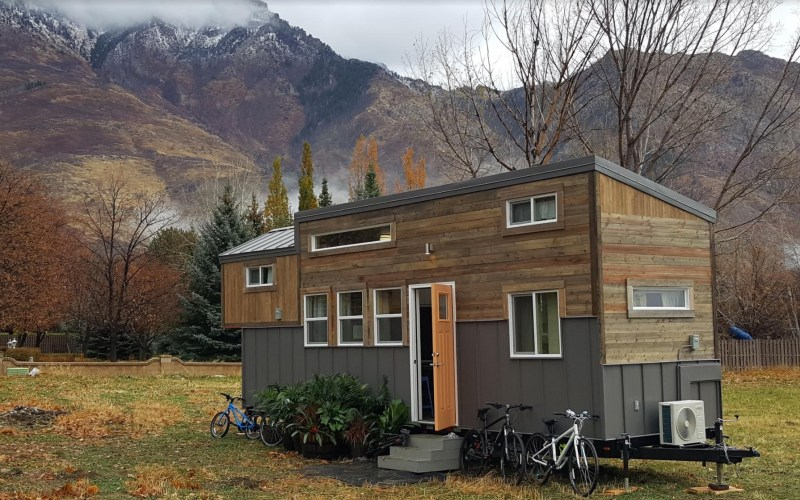 Family of Fours Double Loft Tiny Home on Wheels by Alpine Tiny Homes 001