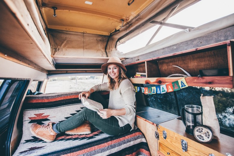 Solo Female Living out of an 87 Toyota Van 002