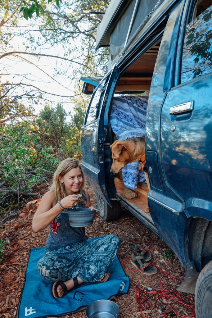 Solo Female Living out of an 87 Toyota Van 006