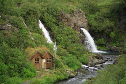 House by the waterfall
