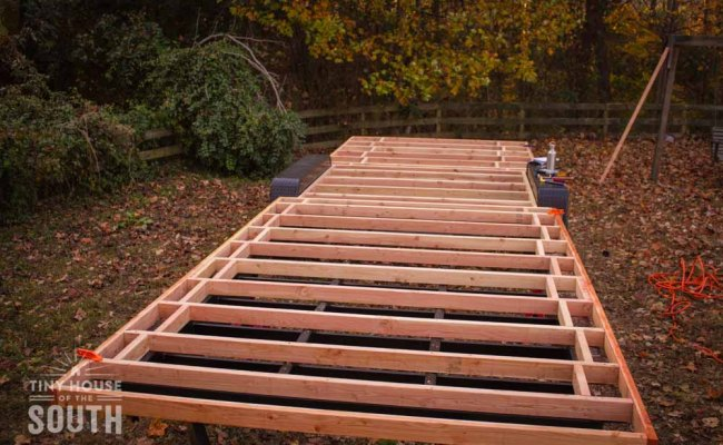 Tiny House Subfloor Construction Part Ii Flashing