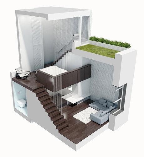 Modern  Spacious Tiny House Design Manhattan Micro Loft  Tiny House Pins