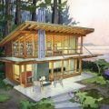 727 square feet modern small house in the perfect setting the
