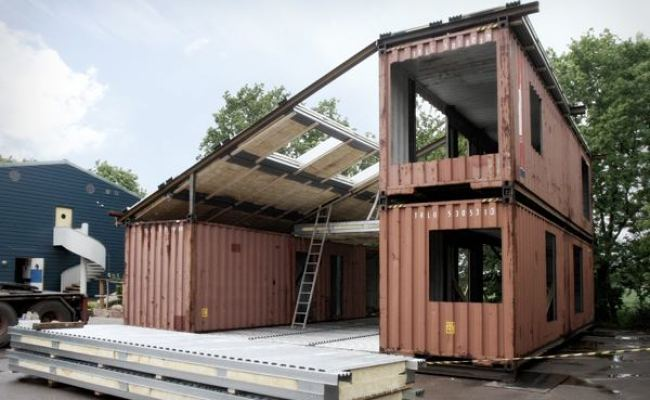 Modern Recycled Home Made Of Shipping Containers Tiny