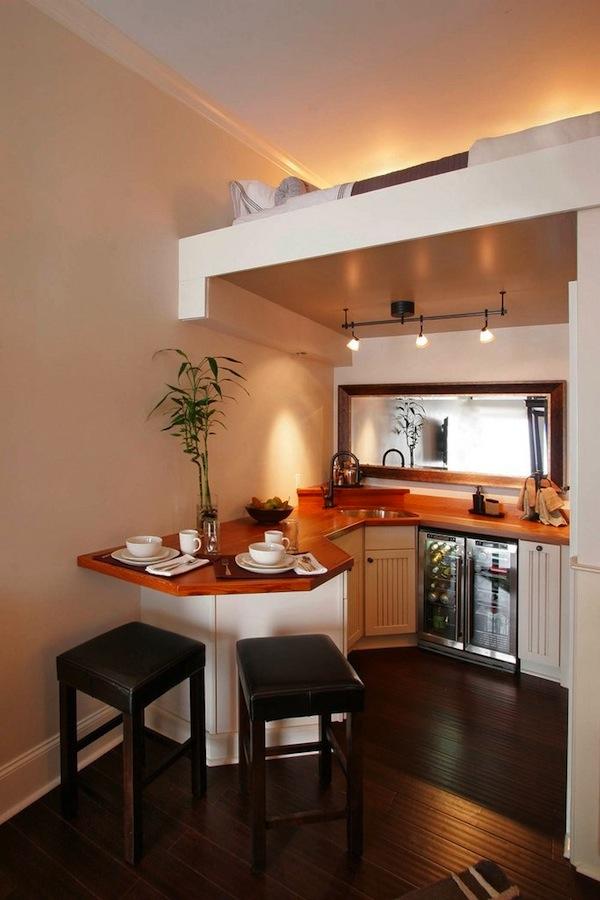 Beautiful Small Kitchen Upstairs Sleeping Loft Tiny House Pins
