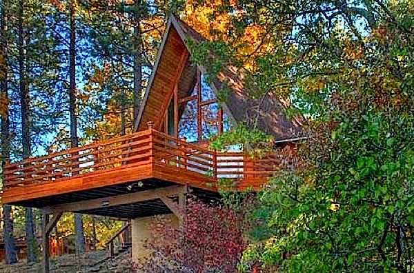 800 Sq Ft Aframe Cabin with Deck  Tiny House Pins