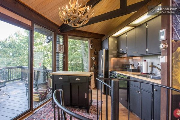 Wooden Yurt Octagon Cabin With Big Windows Amp Mountain