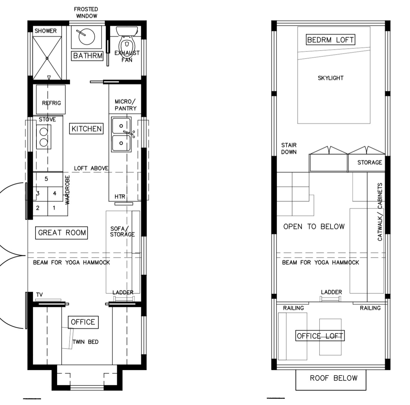 hight resolution of light haus tiny house floor plan