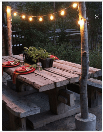 table to sit at outside
