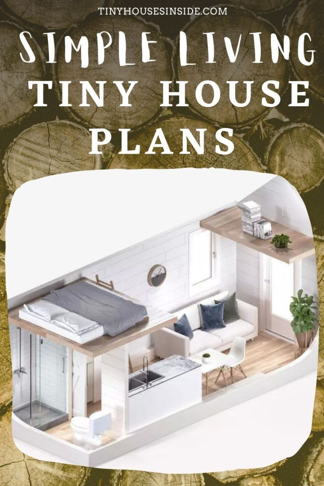 Simple Living Tiny house 1 bedroom plans