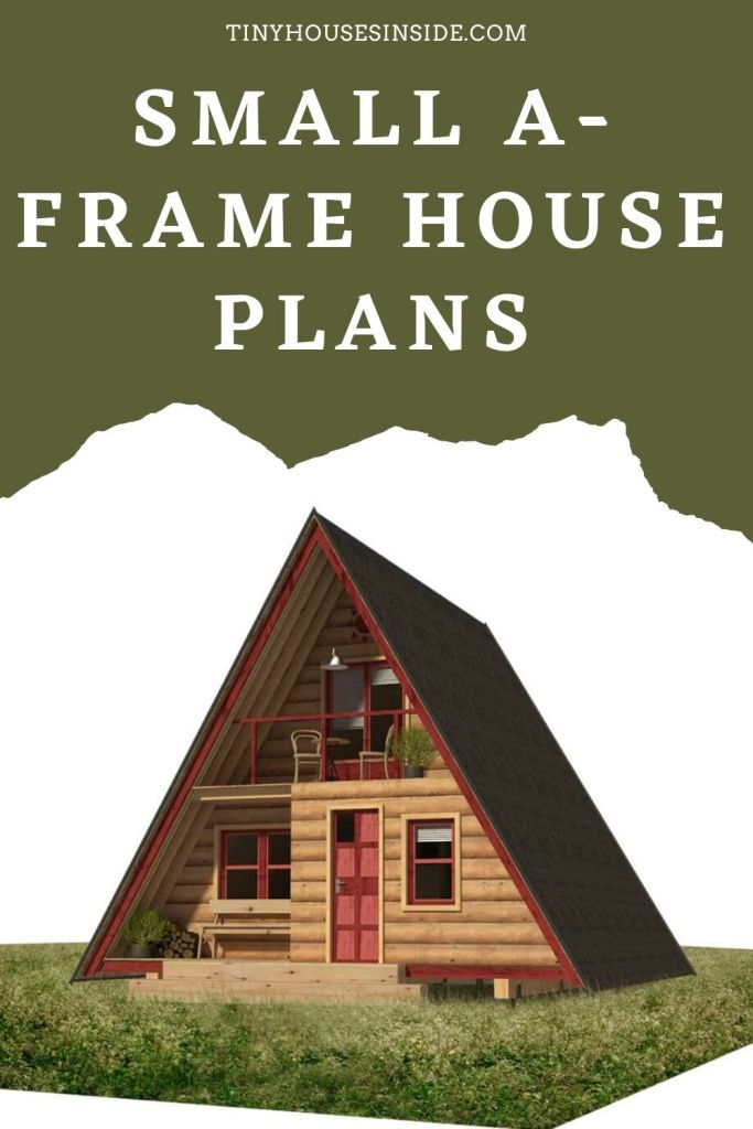 Small A-frame house plans