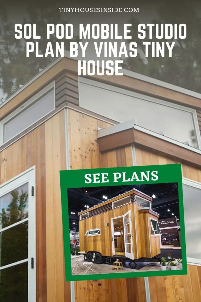 Sol Pod Mobile studio plan by Vinas Tiny House