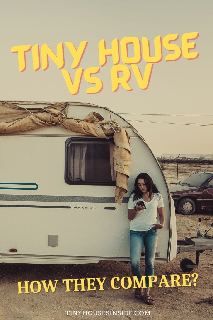 living in a tiny house to an rv