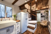 Kitchen Rustic Tiny House