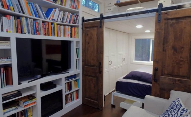 10 Feet Wide Tiny House With Main Floor Bedroom And Closet