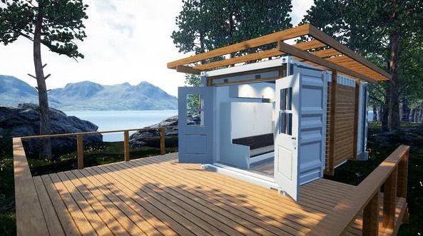 129 Sq. Ft. Shipping Container Tiny Home For Sale 001