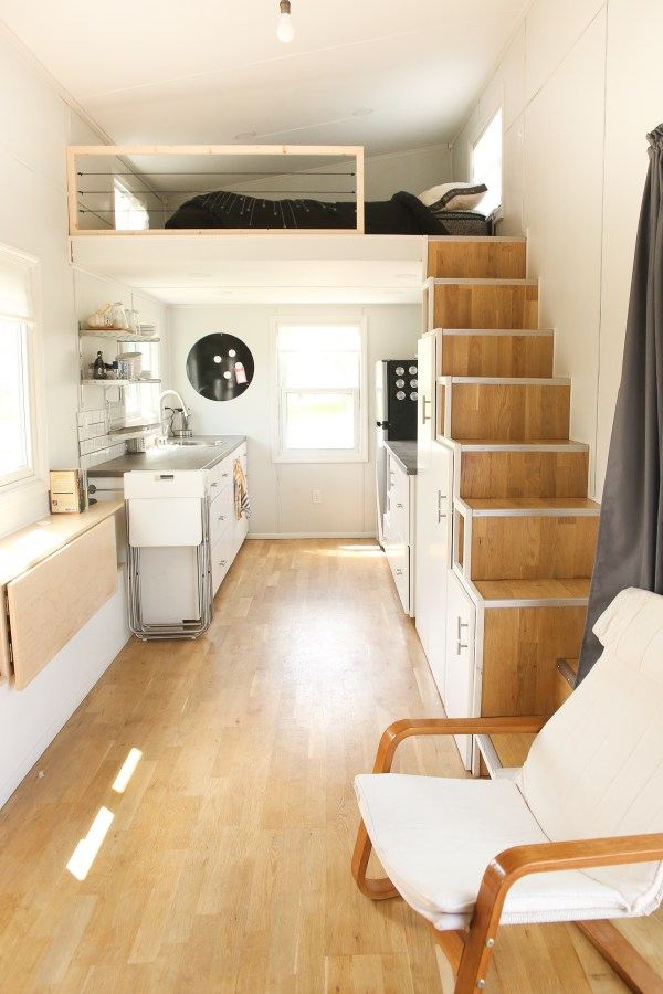 15 000 diy serenity tiny house on wheels. Black Bedroom Furniture Sets. Home Design Ideas