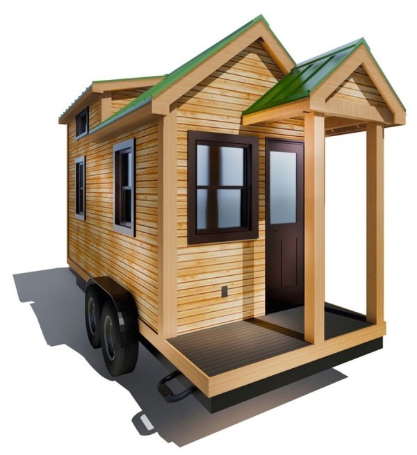 154 Sq Ft Roving Tiny House on Wheels by 84 Lumber Tiny Living 008