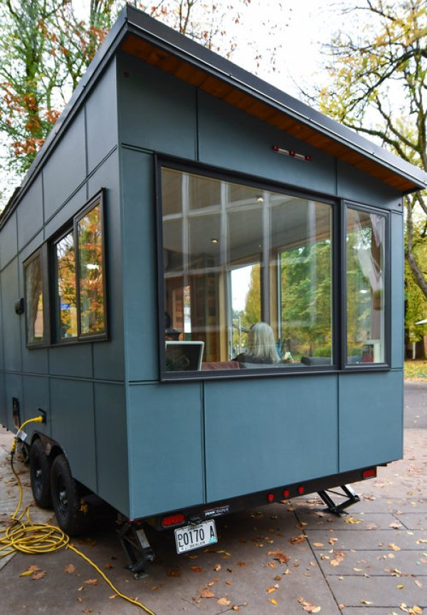 The Verve Lux Tiny House With Toilet Bump Out Over Tongue