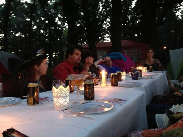 6 course dinner at recent camping trip. Photo by my friend Lamyka.