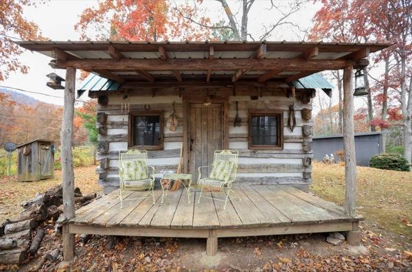 Amish Cabin Construction : Amish built tiny rustic cabin