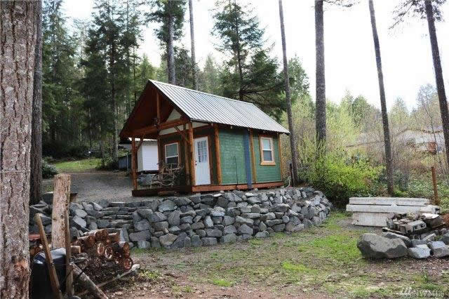 200 Sq Ft Tiny Cabin For Sale on 41 Acres in Tahuya WA