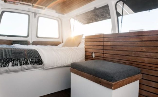 23 Year Old Filmmaker S Cargo Van Tiny House